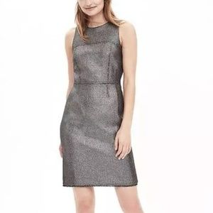 Banana Republic Sparkle Time Gunmetal Tweed Dress
